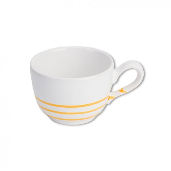 Gmundner Keramik Pur Geflammt Gelb Kaffeetasse glatt (019L)