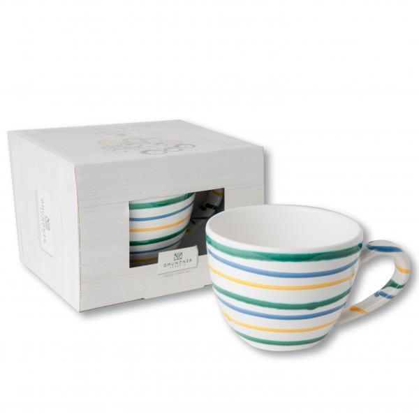 Gmundner Keramik Buntgeflammt Teetasse Maxima 0.4 L im Karton