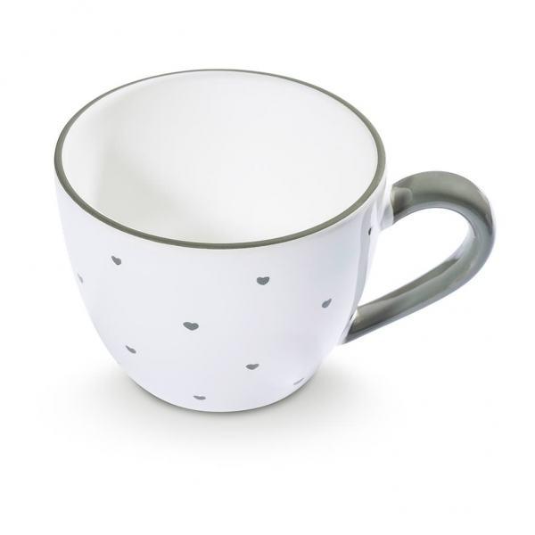 Gmundner Keramik Herzerl Grau Teetasse Maxima 0,4L