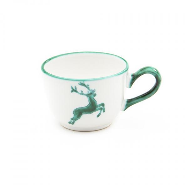 Gmundner Keramik Grüner Hirsch Kaffeetasse glatt (0.19L)
