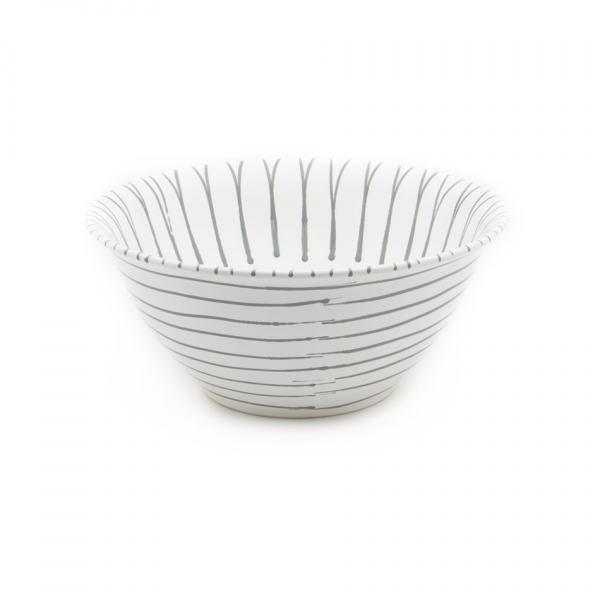 Gmundner Keramik Graugeflammt Salatschüssel 33cm