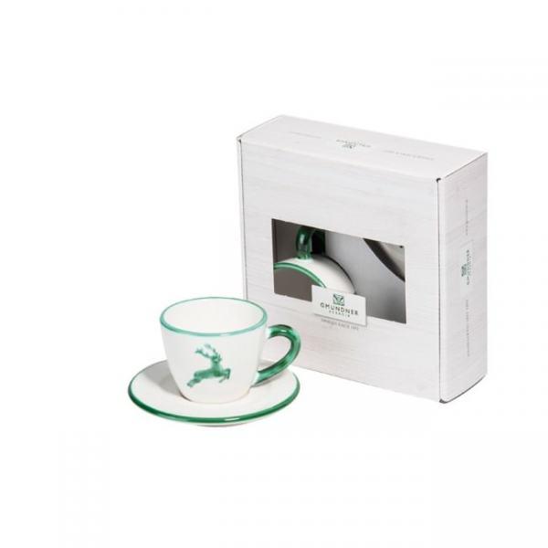 Gmundner Keramik Grüner Hirsch Espresso for you Gourmet