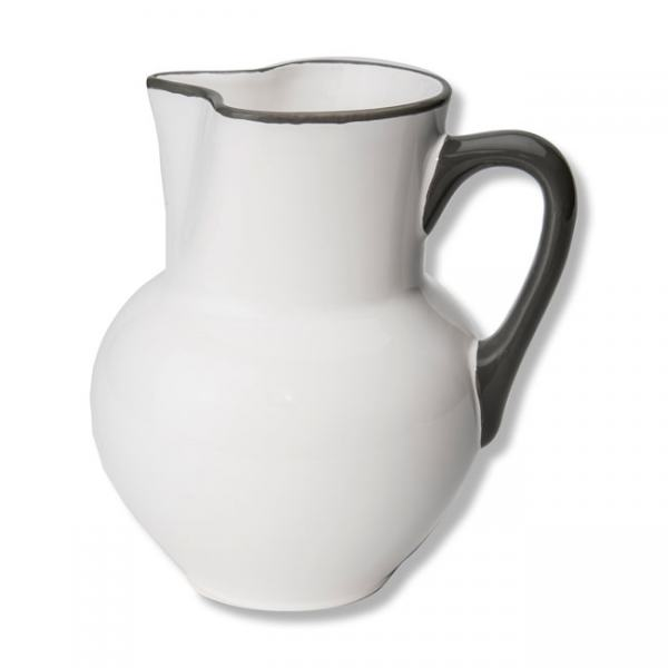 Gmundner Keramik Grauer Rand Wiener Form 1,5L