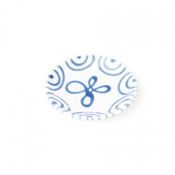 Gmundner Keramik Blaugeflammt Unterteller Kaffee Cup (Ø 15cm)