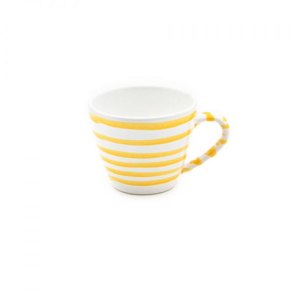 Gmundner Keramik Gelbgeflammt Kaffeetasse Gourmet 0.2L