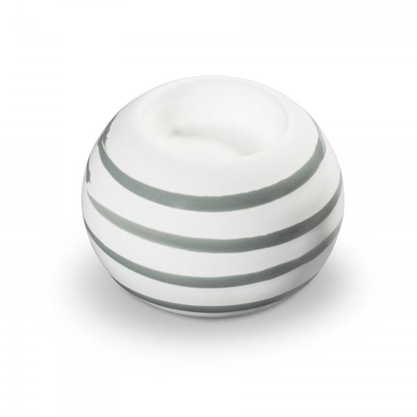 Gmundner Keramik Graugeflammt Kugel-Leuchter/ 1 Teelicht