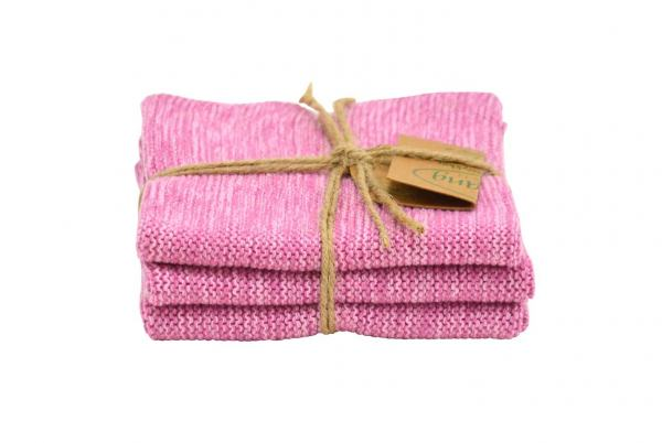 Solwang Wischlappen 3er Set Multi rosa 100% organisch