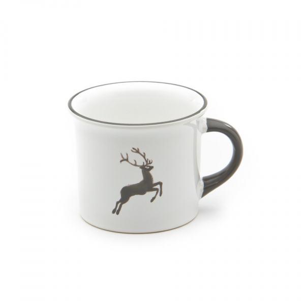 Gmundner Keramik Grauer Hirsch Kaffeehaferl glatt 0.24L