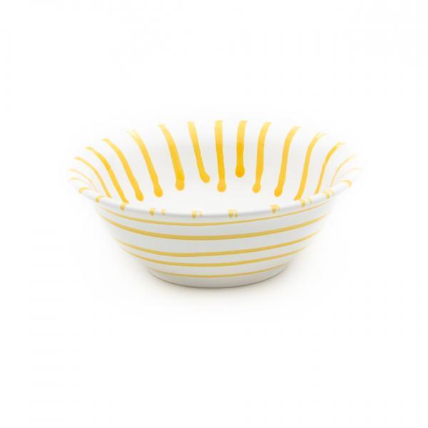 Gmundner Keramik Gelbgeflammt Salatschüssel Ø 20cm