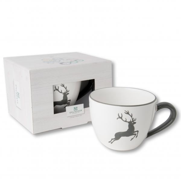 Gmundner Keramik Grauer Hirsch Teetasse Maxima 0,4L