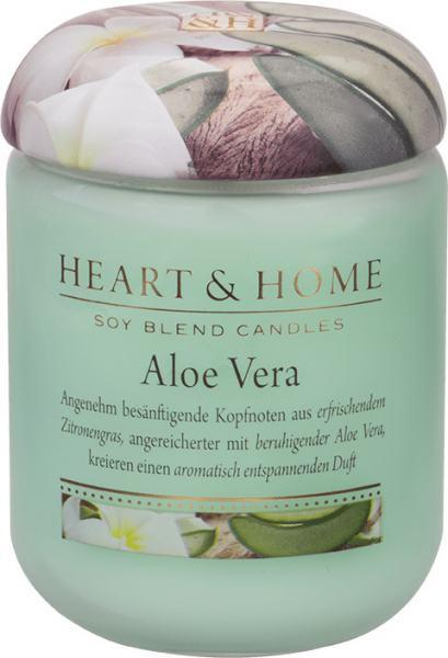 Heart & Home Duftkerze klein Aloe Vera 115gr