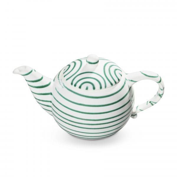 Gmundner Keramik Grüngeflammt Teekanne glatt 1.5L