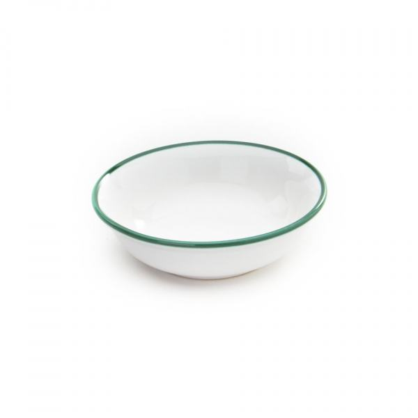 Gmundner Keramik Grüner Rand Müslischale klein (Ø 14cm)