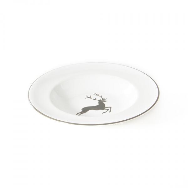 Gmundner Keramik Grauer Hirsch Suppenteller Gourmet 24cm