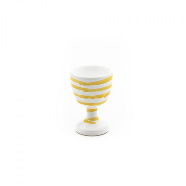 Gmundner Keramik Gelbgeflammt Eierbecher glatt (H: 7.5cm)