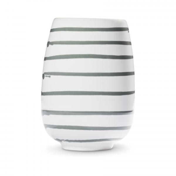 Gmundner Keramik Graugeflammt Vase H: 11cm