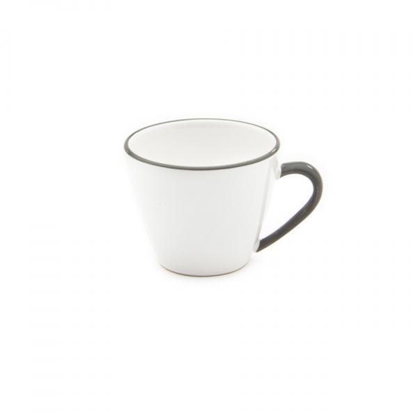 Gmundner Keramik Grauer Rand Kaffeetasse Gourmet 0,2L