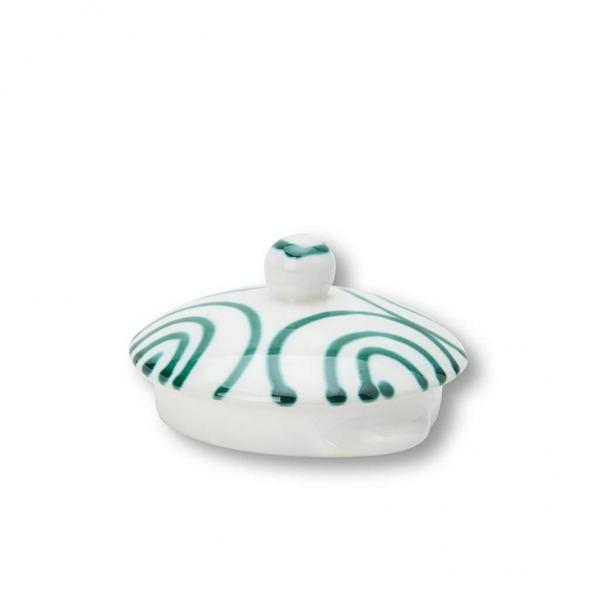 Gmundner Keramik Grüngeflammt Oberteil Teekanne glatt 1.5L