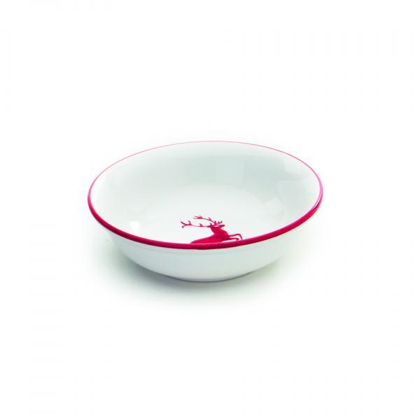 Gmundner Keramik Rubinroter Hirsch Müslischale klein Ø 14cm