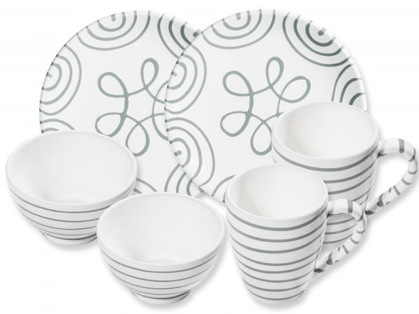 Gmundner Keramik Graugeflammt Hüttenfrühstück Cup Für 2 Geschenke