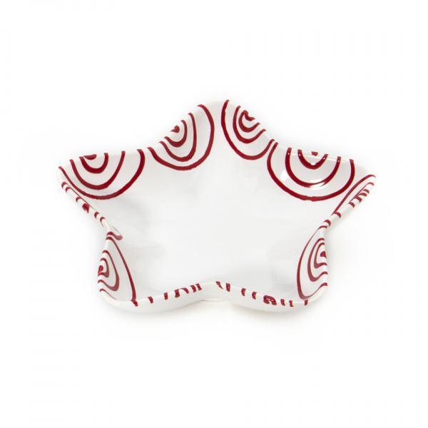 Gmundner Keramik Rotgeflammt Sternschale Stella L: 14cm
