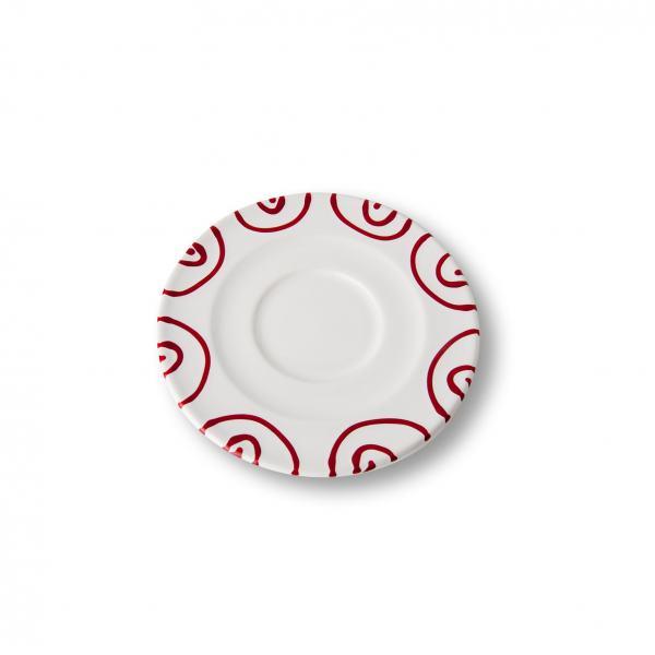 Gmundner Keramik Rotgeflammt Unterteller Cappuccino Gourmet 16cm