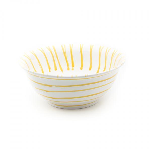 Gmundner Keramik Gelbgeflammt Salatschüssel Ø 26cm