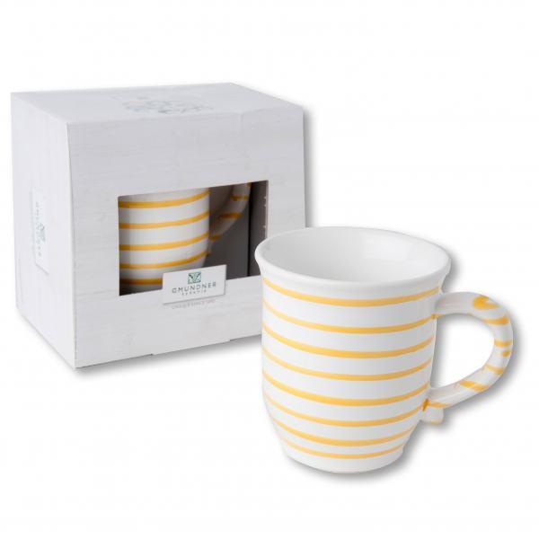 Gmundner Keramik Gelbgeflammt Schokotasse 0.3 L