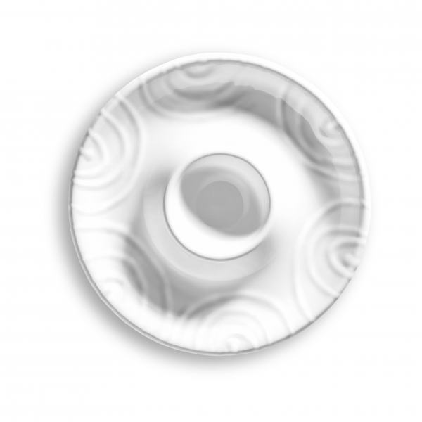 Gmundner Keramik Weißgeflammt Eierbecher glatt Ø 12 cm