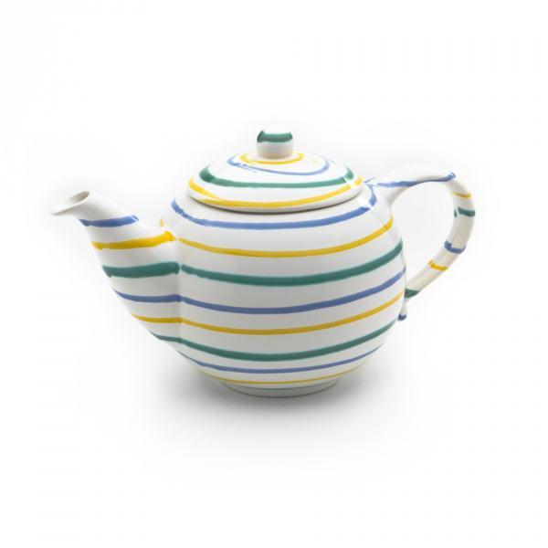 Gmundner Keramik Buntgeflammt Teekanne glatt 1.5L)