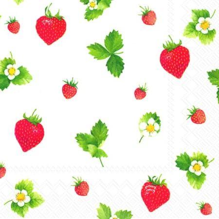 IHR Sweet Strawberries Lunch Servietten