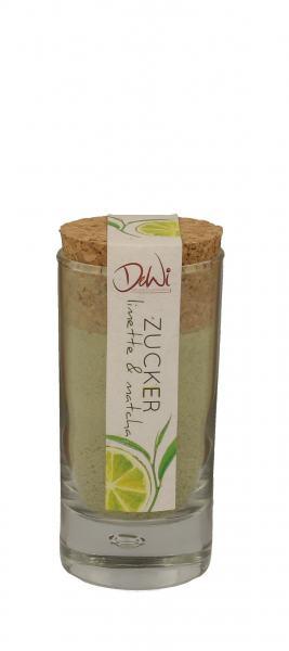 DeWi Limette Matcha Zucker im Korkenglas 70g