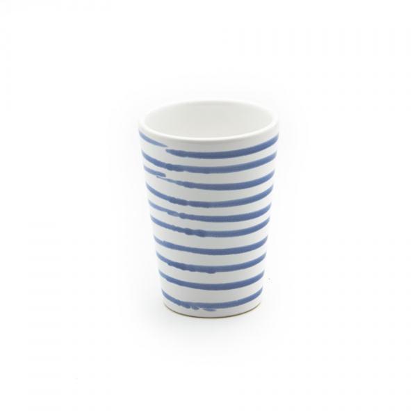 Gmundner Keramik Blaugeflammt Trinkbecher H: 11cm