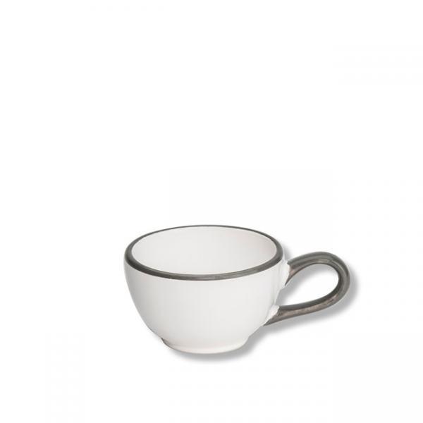 Gmundner Keramik Grauer Rand Mokkatasse glatt 0,06L