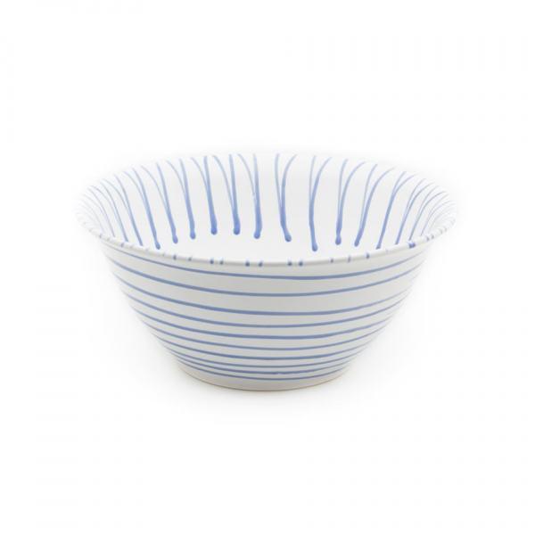 Gmundner Keramik Blaugeflammt Salatschüssel (Ø 33cm)