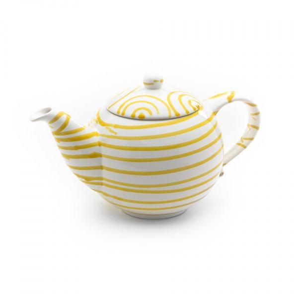 Gmundner Keramik Gelbgeflammt Teekanne glatt 1.5L)
