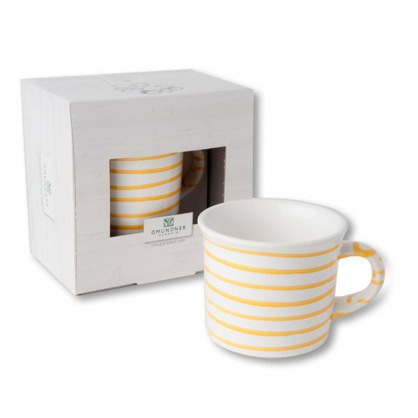Gmundner Keramik Gelbgeflammt Kaffeehäferl (0.24 L)