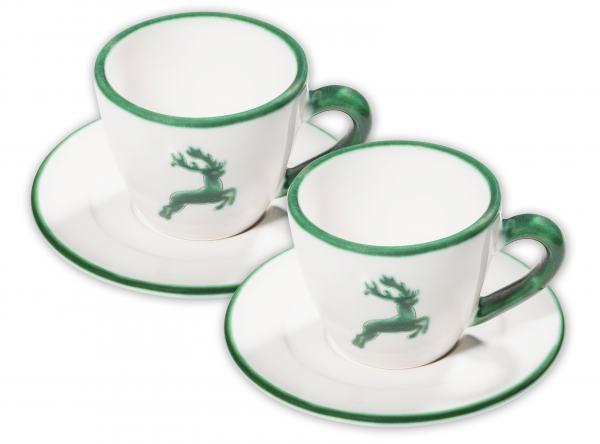 Gmundner Keramik Grüner Hirsch Espresso for two mit Karton