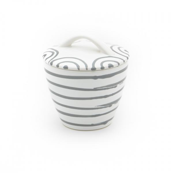 Gmundner Keramik Graugeflammt Zuckerdose Gourmet