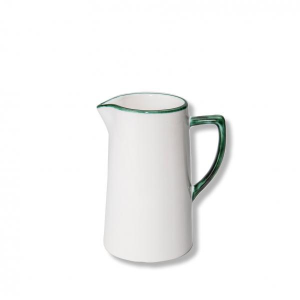 Gmundner Keramik Grüner Rand Wasserkrug (0.7L)