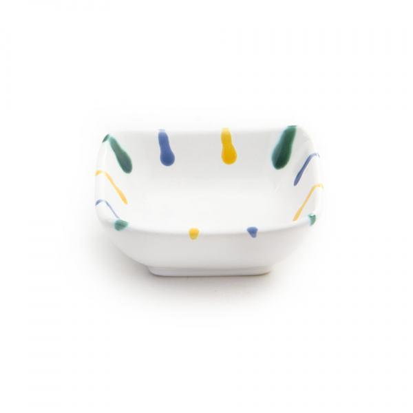 Gmundner Keramik Buntgeflammt Schälchen quadratisch 9x9cm