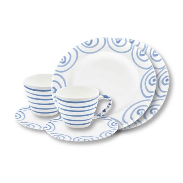 Gmundner Keramik Blaugeflammt Breakfast for two Gourmet