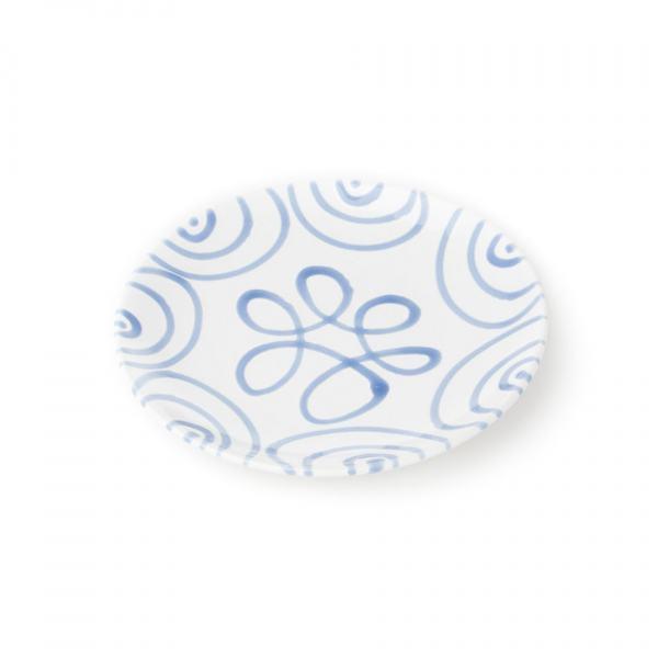 Gmundner Keramik Blaugeflammt Dessertteller Cup (Ø 20cm)
