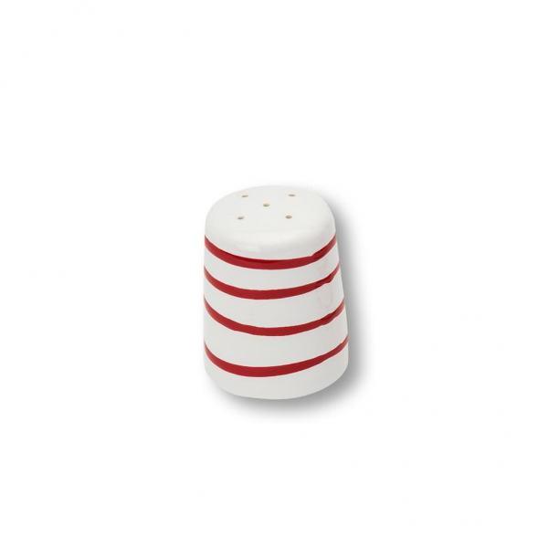 Gmundner Keramik Rotgeflammt Salzstreuer glatt