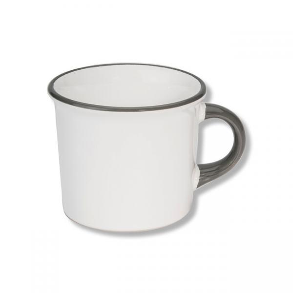 Gmundner Keramik Grauer Rand Kaffeehaferl glatt 0,24L
