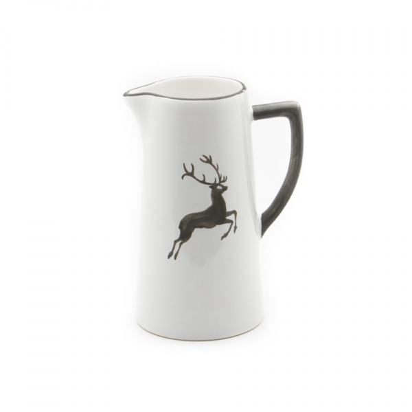 Gmundner Keramik Grauer Hirsch Wasserkrug 1.2L