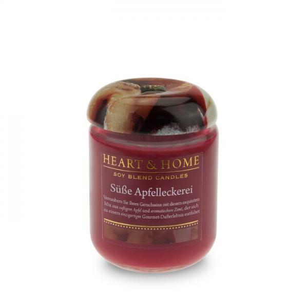 Heart & Home Duftkerze klein Süße Apfelleckerei 115g