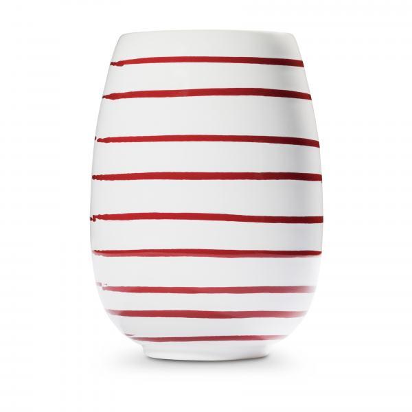 Gmundner Keramik Rotgeflammt Vase H: 15cm