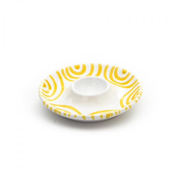 Gmundner Keramik Gelbgeflammt Eierbecher glatt Ø 12 cm
