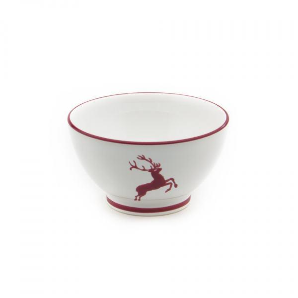 Gmundner Keramik Bordeauxroter Hirsch Müslischale groß Ø 14cm
